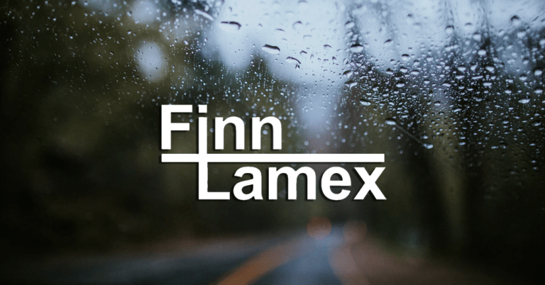 Windshield with logo of Finn Lamex